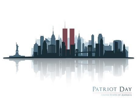 Patriot dzień sztandar.