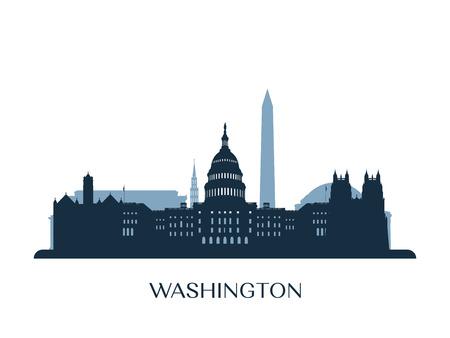 Washington skyline illustration.