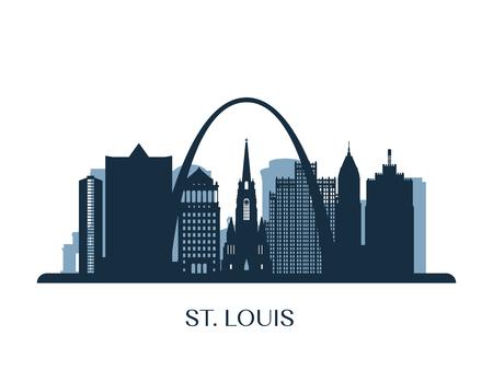 St. Louis skyline, monochrome silhouette. Vector illustration. Illustration