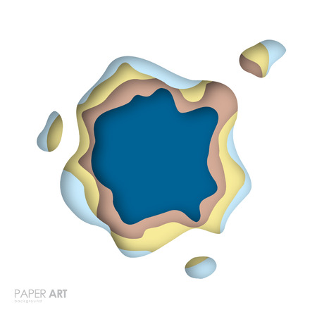 Abstracte achtergrond met veelkleurige papier gesneden vormen. Vectorillustratie is geschikt voor presentaties, posters, ansichtkaarten en ga zo maar door.