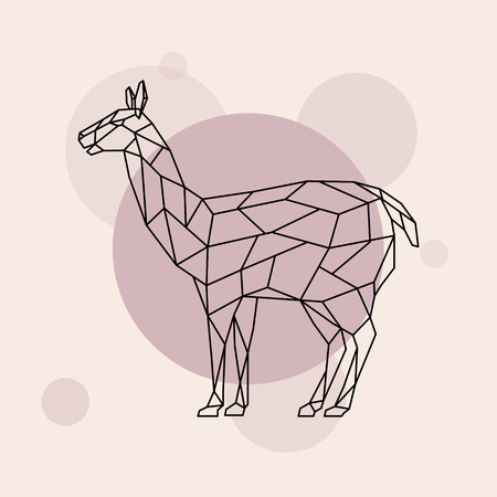 Lama side view illustration.