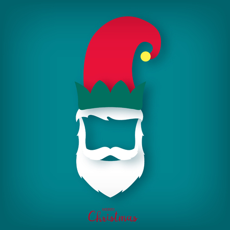 Christmas elf. Assistant to Santa Claus. Vector illustration.