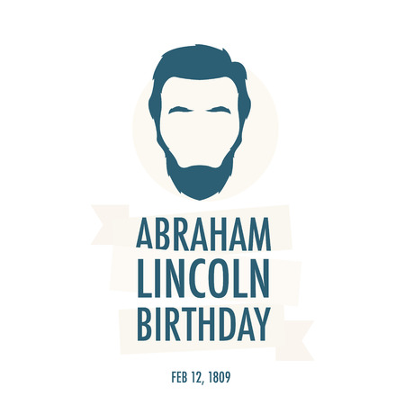 The birthday of President Abraham Lincoln. Festive vector illustration. Background with President Lincoln. 向量圖像