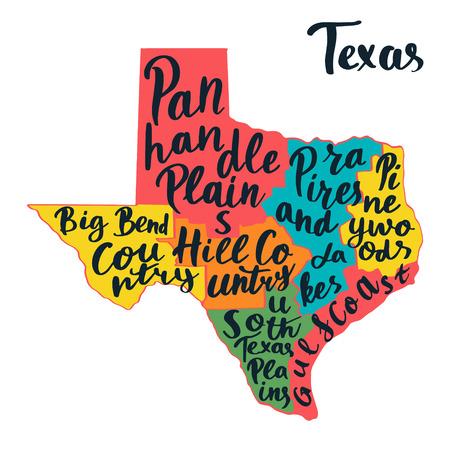 テキサス州地図 ハンドレタリング。 写真素材 - 94767724