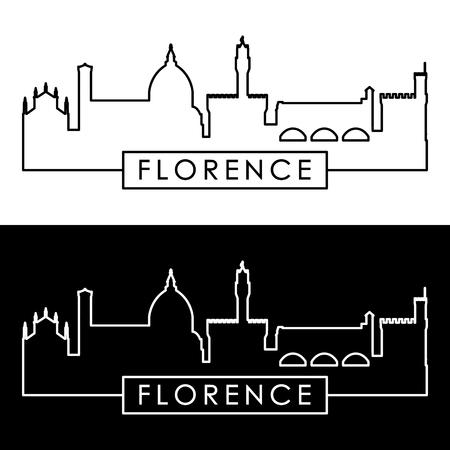 Florence skyline. Linear style. Editable vector file.