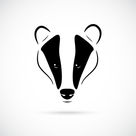 Badger head vector illustration in black, isolated on white background. Icon for retro hipster logos, emblems, badges, labels template and t-shirt design element. Zdjęcie Seryjne - 100706723
