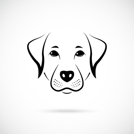 Portrait of  Australian Pinscher. Black and white logo. Vector illustration.