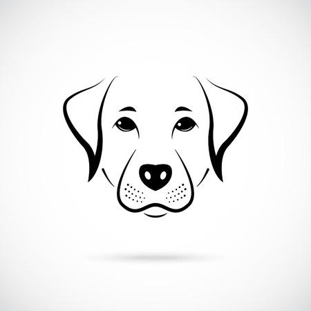 Retrato de pinscher australiano. Logotipo en blanco y negro. Ilustración de vector.