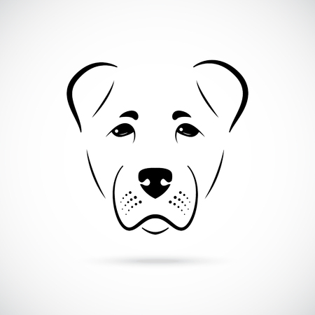 Muzzle Alabai dog on white background. Dog icon for your design.