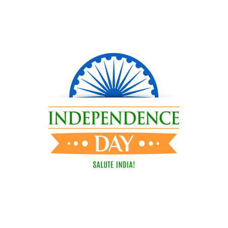 Greeting card for celebrating Independence Day of India.15th August. Vector banner.