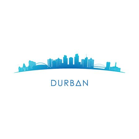 Durban skyline silhouette. Vector design colorful illustration. Illustration