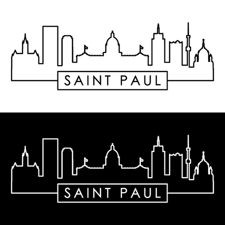 Saint Paul skyline. Linear style. Editable vector file.