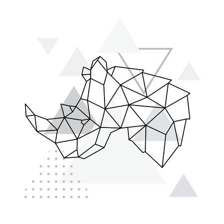 Rhino geometric emblem.