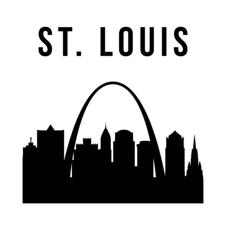 St.Louis city simple silhouette. Modern urban background. Vector skyline.