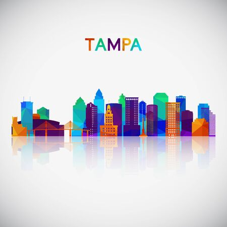 Tampa skyline silhouette in colorful geometric style. Symbol for your design. Vector illustration. Illustration
