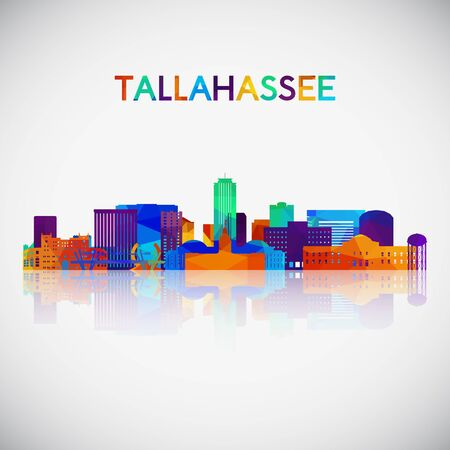 Tallahassee skyline silhouette in colorful geometric style. Symbol for your design. Vector illustration. Иллюстрация