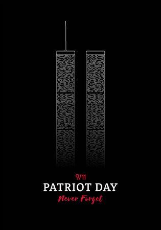 Patriot Day banner. World Trade Center New York. 11 September, National Day of Remembrance. Vector illustration.