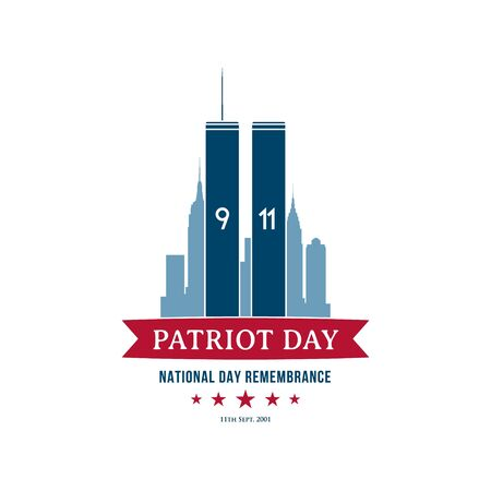 Patriot Day September 11, 2001. National Day Remembrance. USA Patriot Day banner. World Trade Center. Vector design template.
