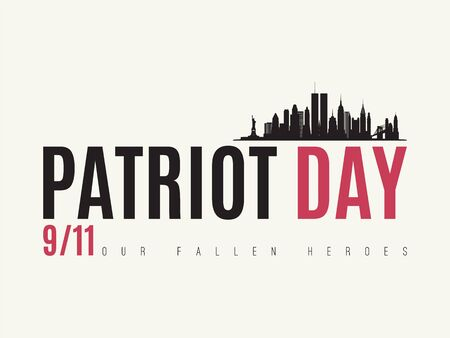 Patriot Day vector design template. USA remembrance day banner. 向量圖像