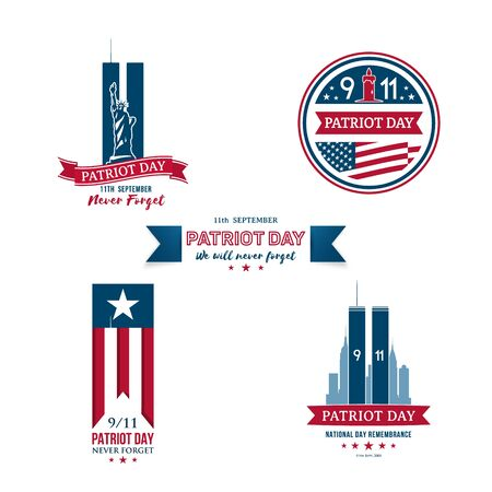 USA Patriot day collection. Design templates set for Remembrance day.