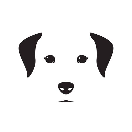 Cute dog simple design for emblem, etc. Vector dog illustration. Ilustrace