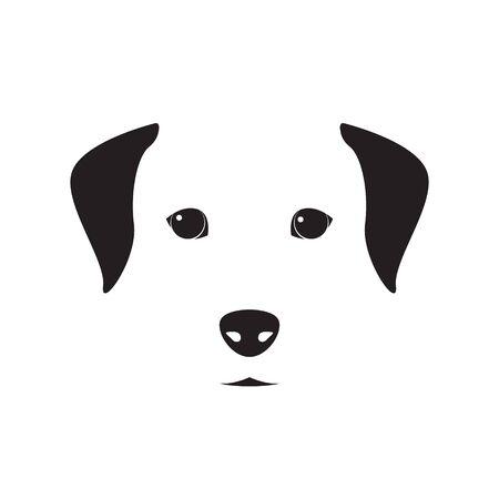 Cute dog simple design for emblem, etc. Vector dog illustration. Illustration