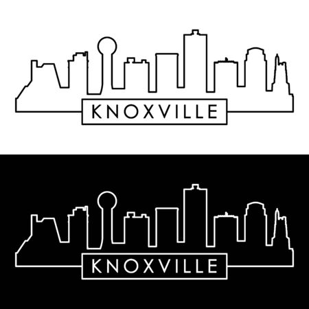 Knoxville skyline.  Linear style. Editable vector file. Stok Fotoğraf - 133625617