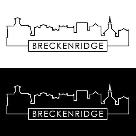 Breckenridge skyline. Linear style. Editable vector file.