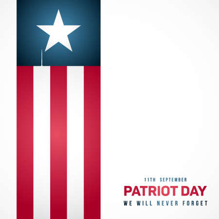 September 11; Patriot day in USA. Anniversary of terrorist attack. Vector banner for remembrance day.