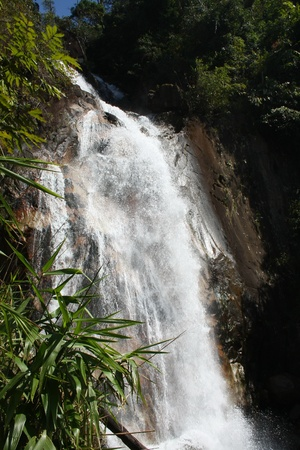 Krathing waterfall  level 9 , Khao Khitchakut National park , Chanthaburi, Thailand photo