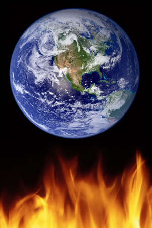 a photo illustration depicting global warming Stock Illustration - 2619793