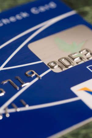 クレジット カードの一部のグラフィックのクローズ アップ