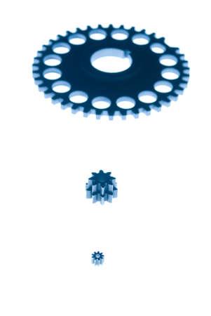 silhouette of gears Banco de Imagens
