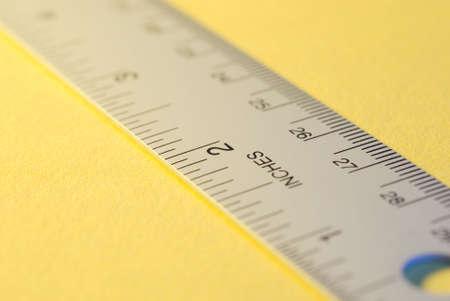 increment: a metal ruler