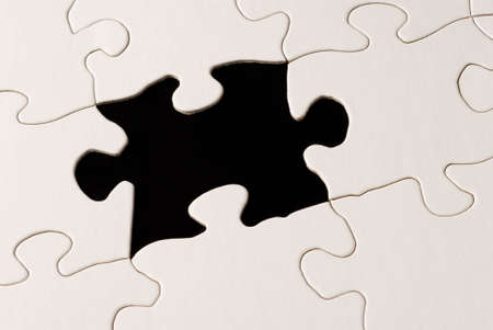 decipher: a nearly completed puzzle with a missing piece