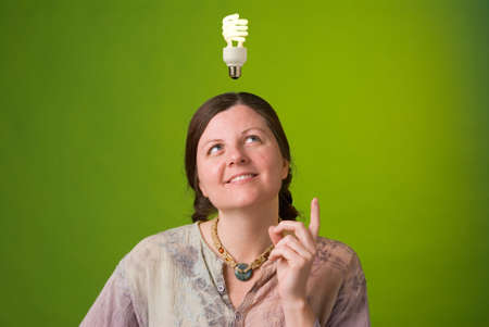 an environmentalist has a green idea Stock Photo - 2951508
