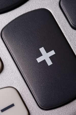 電卓のキーパッドのクローズ アップ 写真素材
