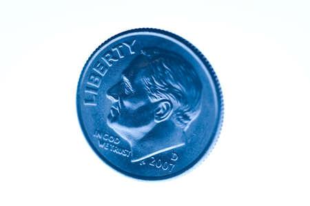 dime: a United States dime