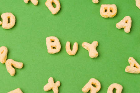 cereal letters spell out buy