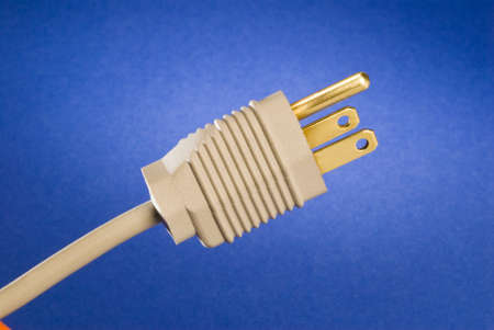 grounded: a grounded power plug