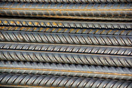 Close-up photo of stack of fittings on construction site