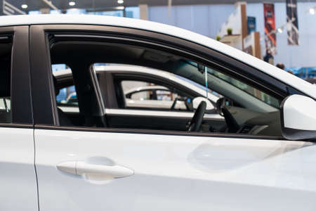 automobile dealer: Stock of cars in showroom of automobile dealer Stock Photo