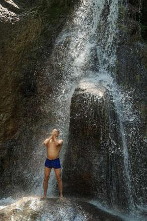 somewhere: Waterfall somewhere in Caucasus
