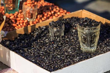 Sunflower seeds on market