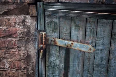 cracky: Old door hinge Stock Photo