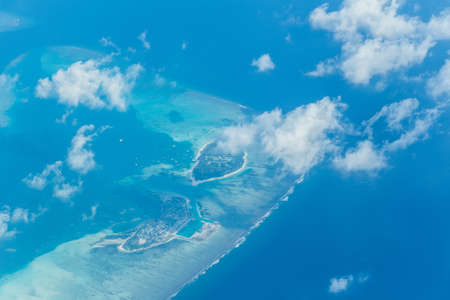Aerial view on Maldives