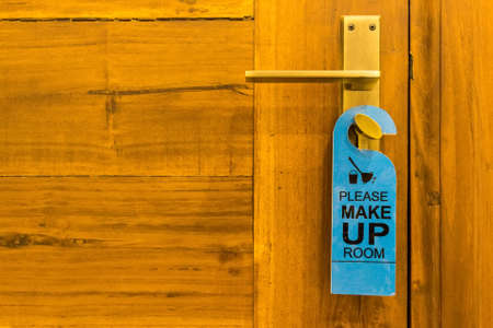 Make up room sign on doorknob