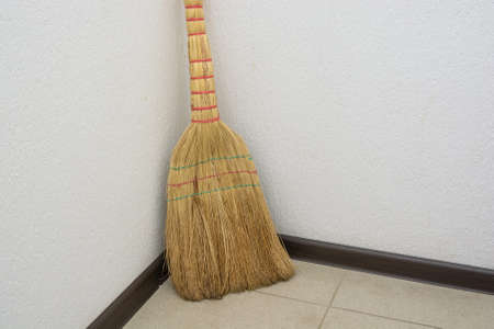 Brooms on the floor