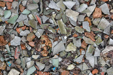 on aggregate: Crushed stones with slate aggregate