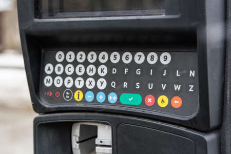 expiring: Parking meter in a city